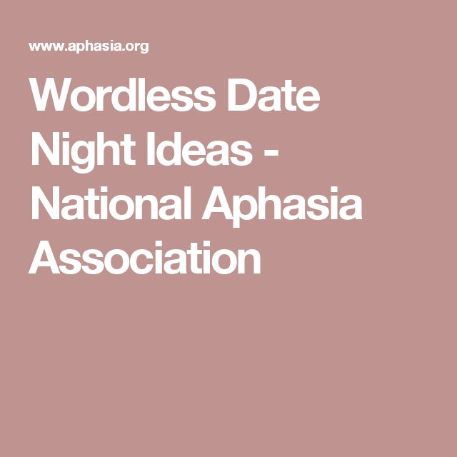 Aphasia dating