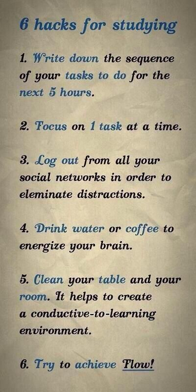 6 Life Hacks for Studying or working. problem is, cleaning would take all day! haha