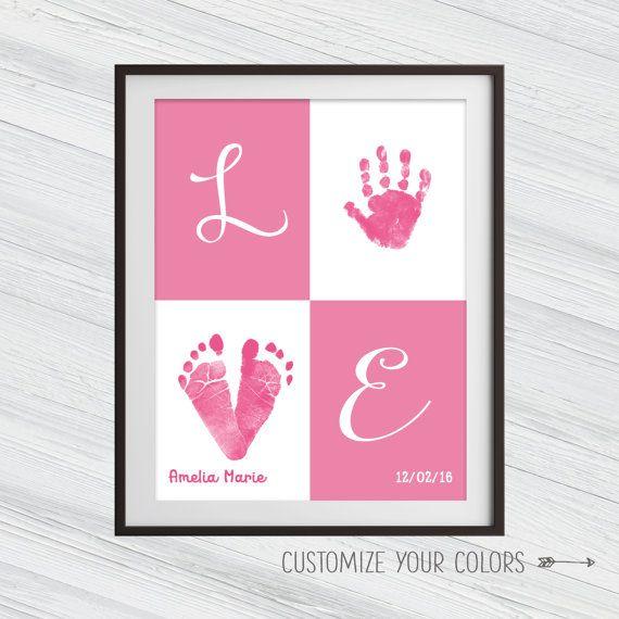 Benutzerdefinierte Baby Handabdruck Wand Kunst von SoulStudioPrints