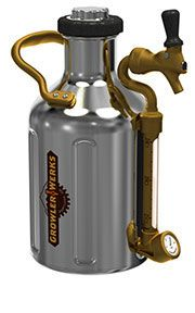 The uKeg by GrowlerWerks, a pressurized growler system that keeps beer fresh and cold, and it goes wherever you go.
