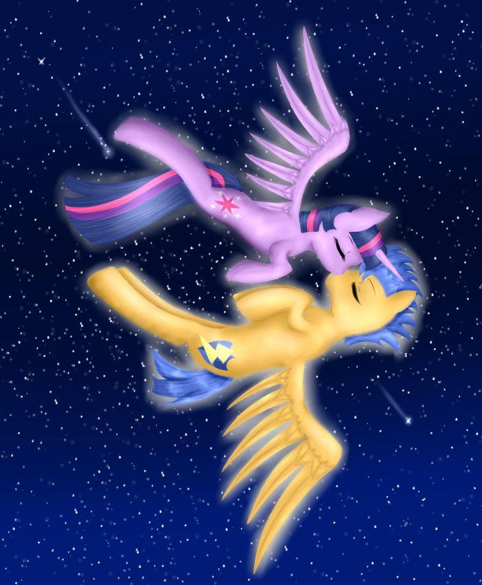 My little pony princess twilight sparkle and flash sentry kiss - photo#51