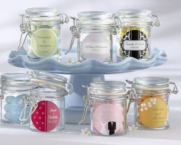 Personalized Glass Favor Jars (Set of 12) - Wedding Favors Canada, Kate Aspen Favours, Bridal Shower Favors, Party Favors, Bombonieres - Bonbonniere Ideas