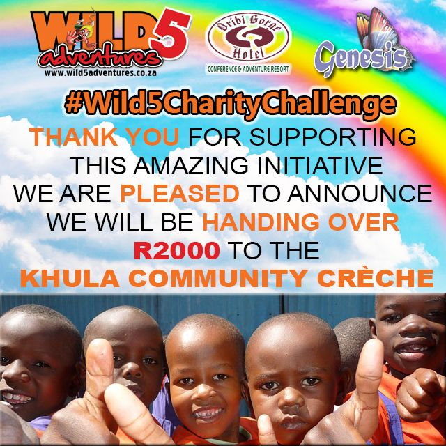The time has come for us to end the #Wild5CharityChallenge. Now we get to do the hand over to The Khula Community Creche - our deserving beneficiary.