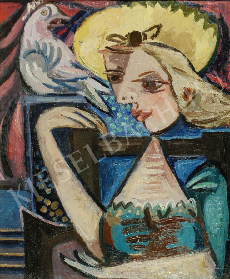 Girl with pigeon - Magda Zemplényi