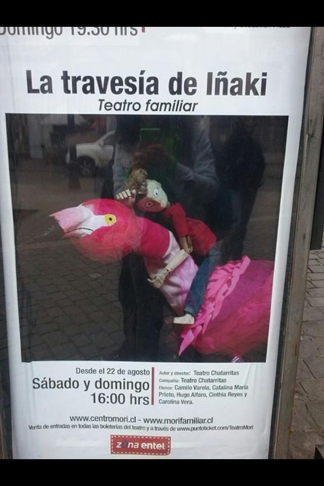 MAÑANA ULTIMA FUNCIÓN DE LA TEMPORADA!!!!  LA TRAVESÍA DE IÑAKI proyecto ganador CIP 2015  Teatro Mori Bellavista a las 16:00.  Para niños de 6 meses a 8 años aprox.  No se la pierda!
