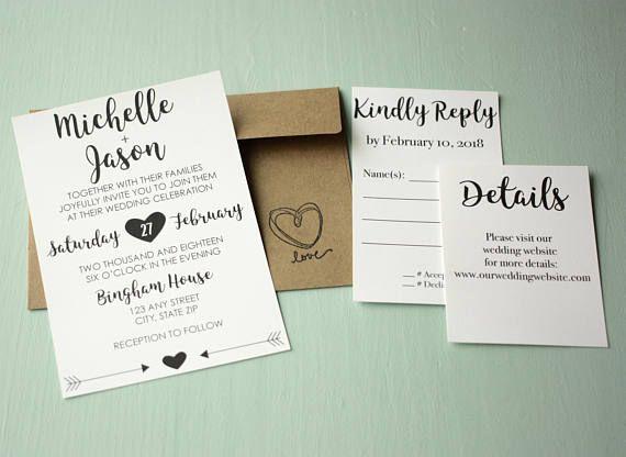 Best 25 Homemade wedding invitation suites ideas on Pinterest