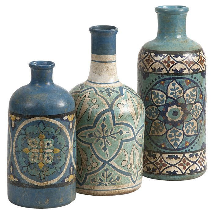 3-Piece Kabir Bottle Set  = Love these great addition to your home decor.