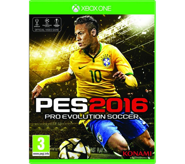 "XBOX ONE  PES 2016 Price: £ 16.99 Marking the 20th anniversary of the Pro Evolution football series, PES 2016 for Xbox One continues to lead the way with exciting upgrades and gameplay enhancements. Voted the ""Best Sports Game"" in 2014, the 2016 edition aims to deliver quality gameplay, bringing on-pitch action to life. Featuring a redevelopment of Master League, every element of the game..."
