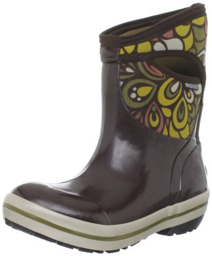 Bogs Womens Plimsoll Mid Vintage Waterproof BootChocolate Multi7 M US ** Read more  at the image link.