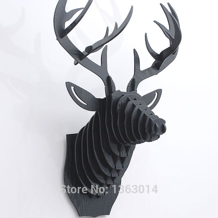 Deer Head Wall Decor 13 best wooden deer head puzzles wall decoration images on