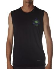 INSIGHT ALIVE MUSCLE TANK - BOOT BLACK on http://www.surfstitch.com