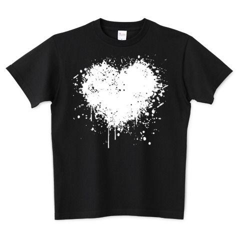 DRIPPING HEART /ドリッピングハート・インク・ペンキ・ストリート・グラフティ・音楽・ロック・パンク・可愛い・シンプル・絵・柄・模様・女性・アート・art・イラスト・ロゴ・デザインTシャツ   デザインTシャツ通販 T-SHIRTS TRINITY(Tシャツトリニティ)