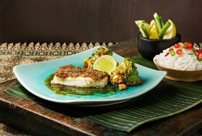 Chili- og korianderbakt torsk