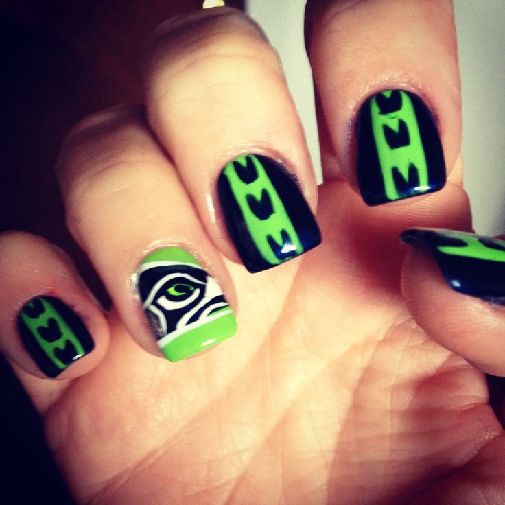 122 Nail Art Designs That You Won T Find On Google Images: 17 Best Images About SEAHAWKS On Pinterest