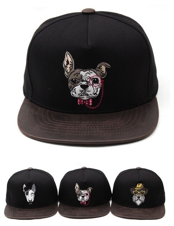 Snapback dog bull terrier/ schnauzer/ pug snapback hat flat baseball cap #Premier #snapback