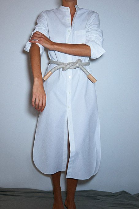 A white shirt dress. Like this one. Better yet: This exact one.
