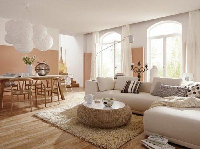 Comment incorporer la couleur grège, idées en photos | Déco salon canapé marron, Déco salon et ...