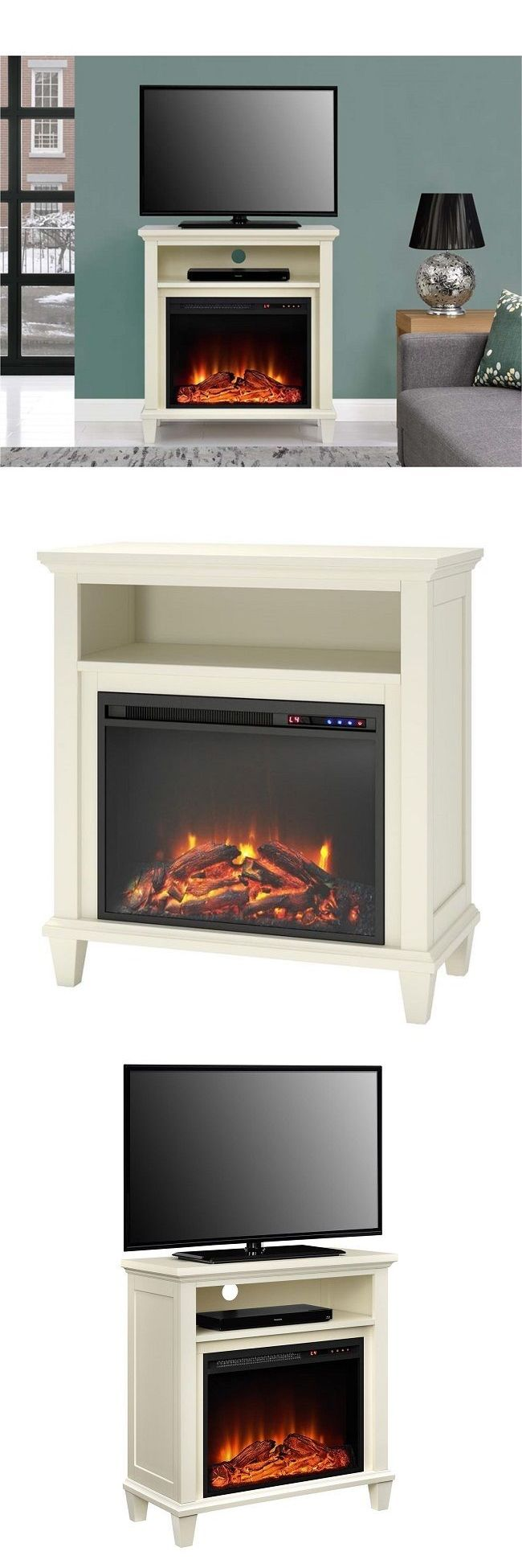Home shop live tv stands chunky stretch tv stand - Entertainment Units Tv Stands 20488 Fireplace Tv Stand Electric Heater Media Console Flat Screen Small