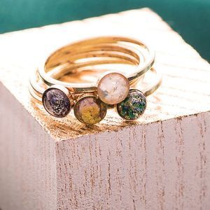 Celestial Stacking Rings. Discover thoughtful, personal and wonderfully unique jewellery gifts for her this Christmas