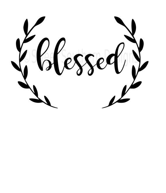 blessed svg instant download design for circuit or