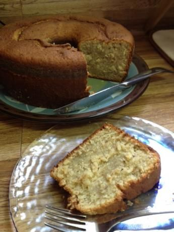 Banana Pound Cake - I made it with Coconut extract instead of lemon and added about 1 cup of coconut flakes to the batter.  Soooo good!