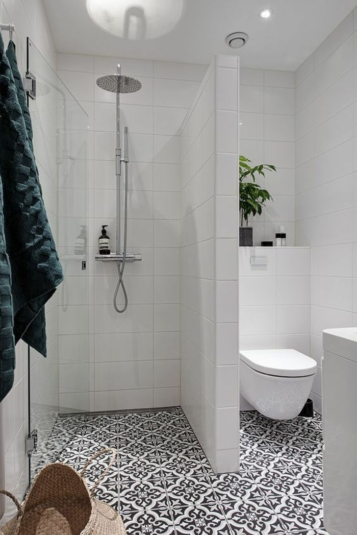 1496 best salle de bain images on pinterest - Carrelage petit carreau salle de bain ...
