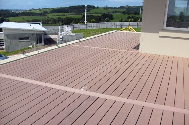Wood plastic composite products supplier post their for Outdoor composite decking
