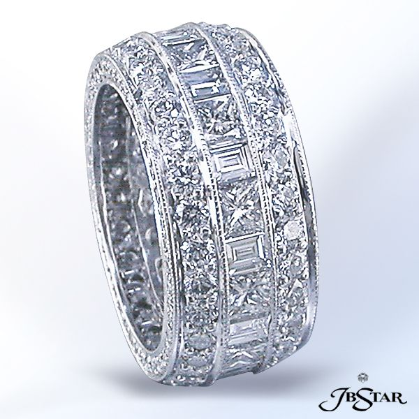 Real Diamond Band Ring Channels