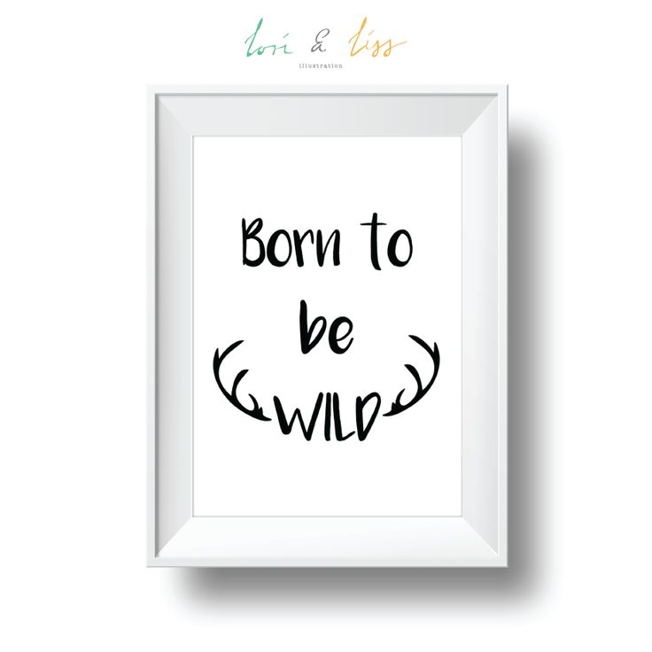 Born to be WILD A4 Portrait Print by lori & liss