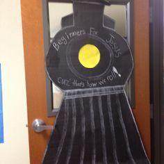 train theme classroom | Train theme door decoration