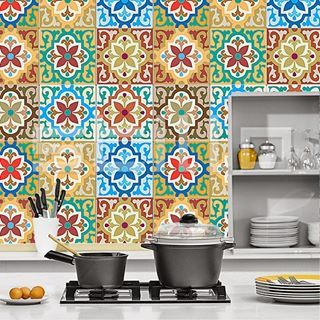 Portugese / Marokkaanse tegels. Gaaf toch! #portugesetegels #tegels #keuken #inspiratie #wonen #verbouwen #koken #tiles #tgwonen