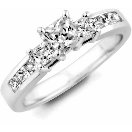 1/2 Carat T.W. Diamond 14kt White Gold Engagement Ring Set with HI/SI2 Quality Diamonds, Women's, Size: 5