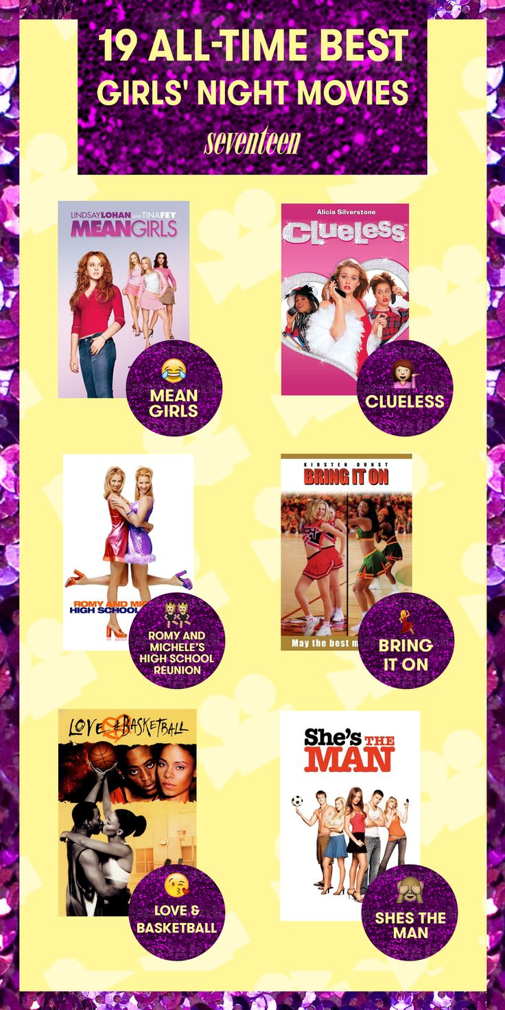 Junk food? Check. Room full of friends? Check. Now all you need is a stack of the awesome movies to help you laugh and cry your way through the perfect girls' night in. Here's a roundup of the best chick flicks ever.