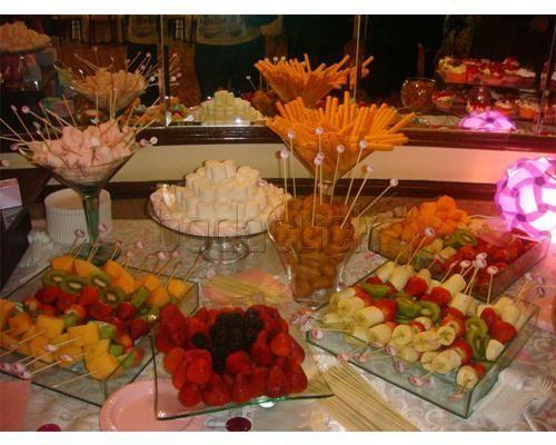 The little bakery house pasteles de boda buffet party for Decoracion de frutas para fiestas infantiles