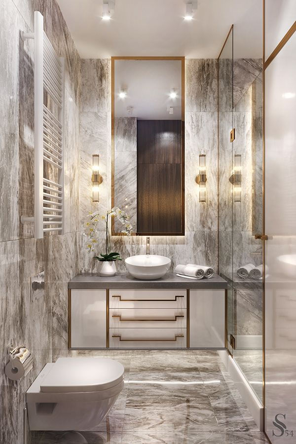 Apartment In Saint Petersburg Luxury Powder Room Modern Bathroom Decor Bathroom Vanity Designs
