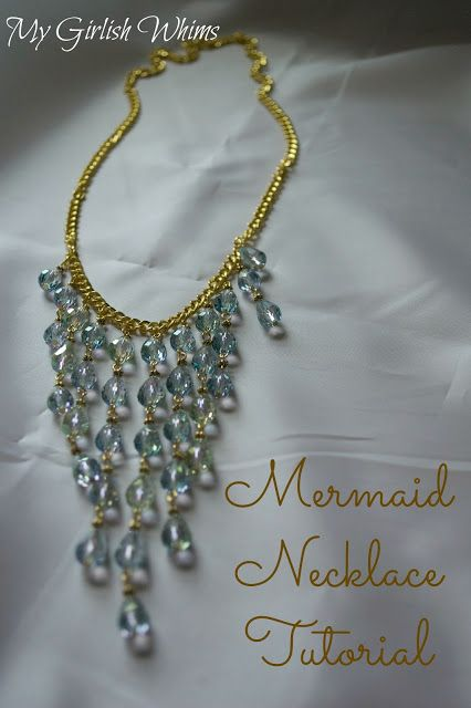 Mermaid Necklace Tutorial | jewelry 4 me | Pinterest | Necklace tutorial, DIY Jewelry and Mermaid necklace