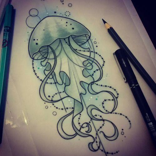 For Emily #tattoo #jellyfishtattoo #neotraditional #ladytattooers #design #art #uktattooartist #plymouth #tattooworkers #instagood