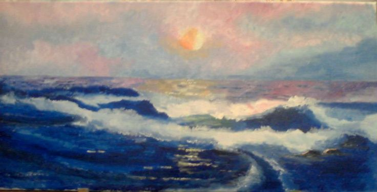 Waves , oil on canvas