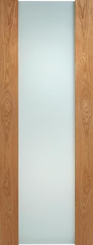 Internal Oak Toronto Full Frosted Glass Door - MODA DOORS