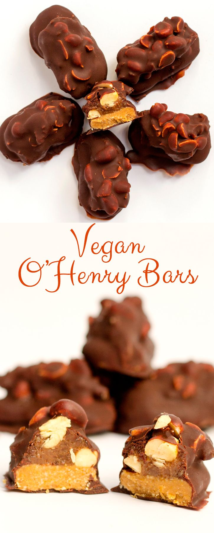 Vegan O'Henry bars, made with date caramel, peanut butter, cashews and homemade chocolate. A guilt free dessert #Vegan #glutenfree.