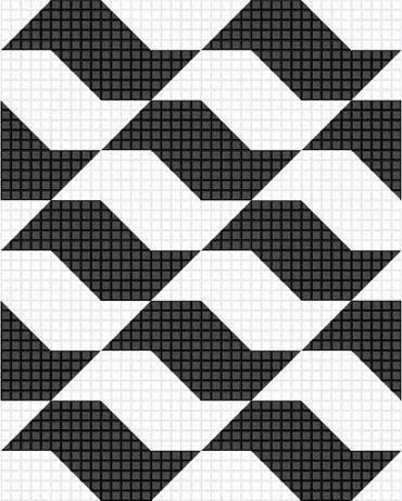 Piso padrão desenvolvido por Mirthes dos Santos Pinto para as calçadas de São Paulo, 1966