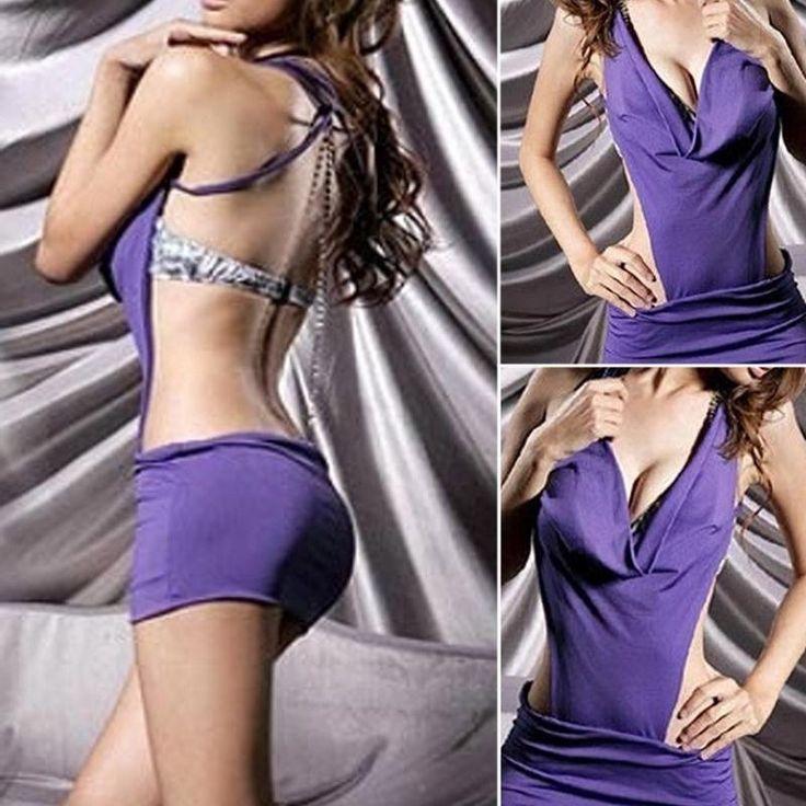 V ML robes d'hiver de vêtements sexy sexy robes Halter Backless de nuit Nuit profondes Mini robe pourpre-in de Vêtements & Accessoires sur Aliexpress.com | Alibaba Group