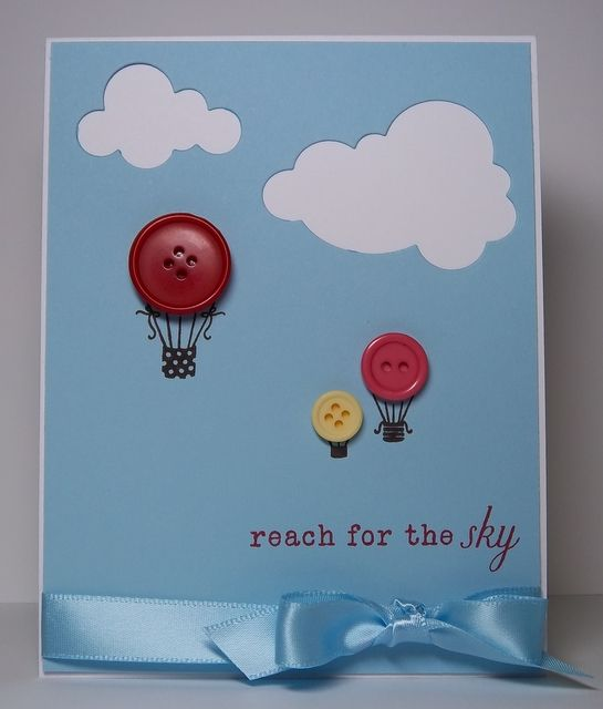 Hot air balloon and clouds - so simple to make and adapt for many occasions using your favorite supplies!
