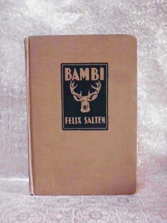 WEEKEND SALE 1929 Vintage Book BAMBI Felix by laughterandlemondrop, $5.99