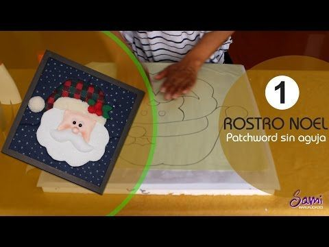 manualidades para navidad - como hacer patchword sin agujas - YouTube