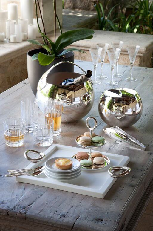 Create a distinguished afternoon tea with silverware and crystal from Christofle macaroons and white wine & 49 best Christofle Tableware images on Pinterest | Shop now ...