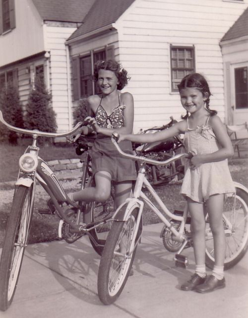 we were always outside riding bikes.  ***We rode for miles, anywhere we wanted to go.  No cell phones, no worries, just be home by dinner time!