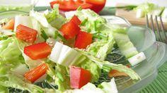 Chinakohl-Paprika-Salat mit Senfdressing