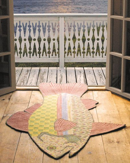 24 best images about fish rugs on pinterest april for Mackenzie childs fish rug