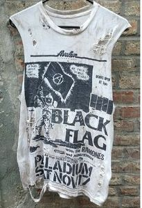 Black Flag cut off tee #fashion #vintage #destroyed tees #punk http://www.dollskill.com/sitesearch?q=christian+brenner